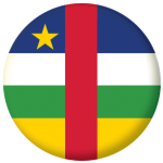 Central African Republic Country Flag 58mm Button Badge